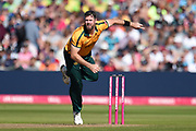 Dan Christian of Notts Outlaws bowling during the Vitality T20 Finals Day 2019 match between Notts Outlaws and Worcestershire Rapids at Edgbaston, Birmingham, United Kingdom on 21 September 2019.