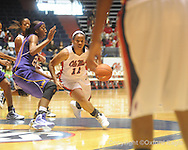 "Ole Miss' Shantell Black (11) vs. LSU on Sunday, January 17, 2010 at the C.M. ""Tad"" Smith Coliseum in Oxford, Miss."