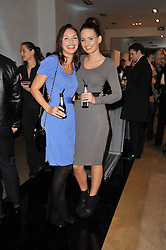 Left to right, sisters JESSICA BOWEN and NATHALIE BOWEN at a party to launch pop-up store Oxygen Boutique, 33 Duke of York Square, London SW3 on 8th February 2011.