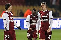 Deception Metz - Guido leonardo MILAN - 14.03.2015 - Metz / Saint Etienne - 29e journee Ligue 1<br /> Photo : Fred Marvaux / Icon Sport
