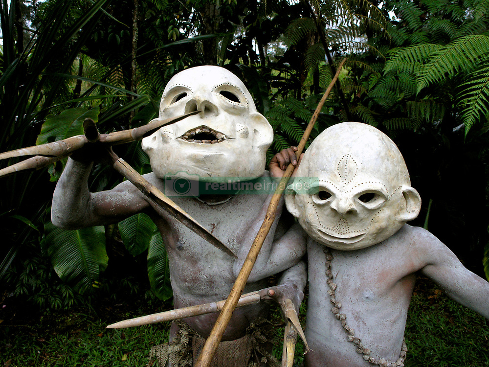May 5, 2017 - Papua New Guinea is a land of Wig-Schools, Wig-Teachers and WigMen, impenetrable rain-forests, sweet potatoes and pigs. A land of the Cus-Cus, the Cassowary and thirty-eight species of Birds of Paradise...A land without sheep, goats, cows or milk. A land where there are no donkeys, horses or mules. No bicycles, mopeds and few cars; virtually no restaurants, bars, shops, electricity or roads. It is a land where there is no recreational sex, where a new-born girl is called a Shovel, a boy an Axe and where many adults have no birth certificates. It is perhaps one of the most untouched lands on earth... This bizarre way of life is found in the Highlands of Papua New Guinea, a country comprising more than 2000 indigeneous clans, including the Mudmen of the Waghi Valley. (Credit Image: © Jeremy Hunter/Exclusivepix Media Pictures via ZUMA Wire)