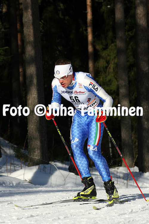 08.03.2009, Lahti, Finland..Salpaussel?n Kisat / Lahti Ski Games.Hiihdon Maailmancup / Cross Country FIS World Cup.Miesten 15 km vapaa / Men 15 km Free.David Hofer - Italia.©Juha Tamminen