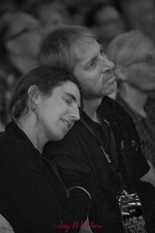The 21st annual Sisters Folk Festival<br /> <br /> Tom Murphy and Molly Grove watching Richard Thompson at SAW