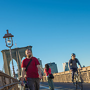 Pedestrians on Brooklyn Bridge
