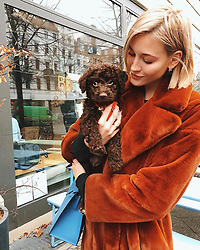 """Mandy Bork releases a photo on Instagram with the following caption: """"Ladies and gents, meet my baby godchild Frieda \ud83e\udd70 Shes so pure and sweet, so delicate and a true angel - cant stop cuddling her. And - shes djangos future wifey \ud83d\ude05\ud83d\udc3e #puppy #puppylove"""". Photo Credit: Instagram *** No USA Distribution *** For Editorial Use Only *** Not to be Published in Books or Photo Books ***  Please note: Fees charged by the agency are for the agency's services only, and do not, nor are they intended to, convey to the user any ownership of Copyright or License in the material. The agency does not claim any ownership including but not limited to Copyright or License in the attached material. By publishing this material you expressly agree to indemnify and to hold the agency and its directors, shareholders and employees harmless from any loss, claims, damages, demands, expenses (including legal fees), or any causes of action or allegation against the agency arising out of or connected in any way with publication of the material."""