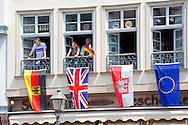 Frankfurt, 25-06-2015 <br /> <br /> SateVisit of Queen Elizabeth to Germany<br /> <br /> VISIT TO FRANKFURT<br /> <br /> <br /> <br /> <br /> Royalportraits Europe/Bernard Ruebsamen