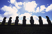 Ahu Akivi, Restored 1960, Easter Island, chile<br />