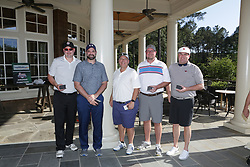 Awards photos during the Chick-fil-A Peach Bowl Lamb-Weston Celeb and Coaches Pro-Am, at the Oconee Golf Course, Reynolds Plantation, Monday, April 30, 2018, in Greensboro, Georgia. (Marvin Gentry via Abell Images for Chick-fil-A Peach Bowl Challenge)