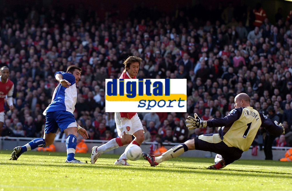 Photo: Olly Greenwood.<br />Arsenal v Blackburn Rovers. The FA Cup. 17/02/2007. Arsenal's Tomas Rosicky see's his shot saved by Blackburn's Brad Friedel