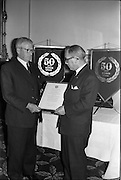 19/06/1963.06/19/1963.19 June 1963.Ford 50 year Service Awards at Shelbourne Hotel, Dublin. Service awards presented to Ford dealers, H.J. Thompson.