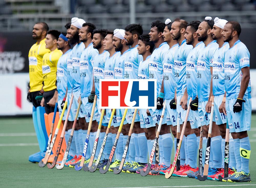 BREDA - Rabobank Hockey Champions Trophy<br /> India - Pakistan<br /> Photo: Indian line up.<br /> COPYRIGHT WORLDSPORTPICS FRANK UIJLENBROEK