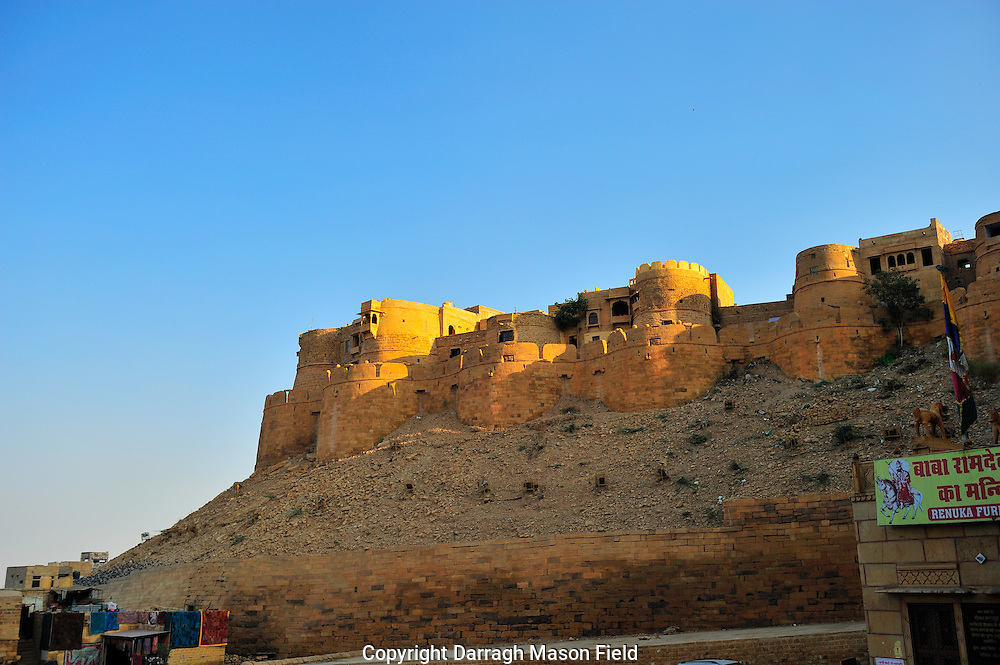 Jaisalmer fort in Rjasthan, in the Golden City