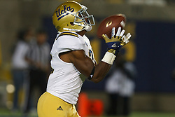 BERKELEY, CA - OCTOBER 06: wide receiver Damien Thigpen #25 of the UCLA Bruins fields a kick off against the California Golden Bears during the third quarter at California Memorial Stadium on October 6, 2012 in Berkeley, California. The California Golden Bears defeated the UCLA Bruins 43-17. (Photo by Jason O. Watson/Getty Images) *** Local Caption *** Damien Thigpen