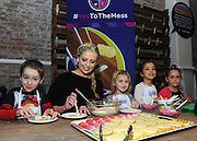 """Sarah Michelle Gellar joins Swiffer as program ambassador at its """"Yes to the Mess"""" event, Wednesday, Feb. 3, 2016, in New York, where kids were encouraged to take part in messy activities, such as cookie decorating, because with Swiffer you can get a thorough clean in minutes. (Photo by Diane Bondareff/Invision for Swiffer/AP Images)"""