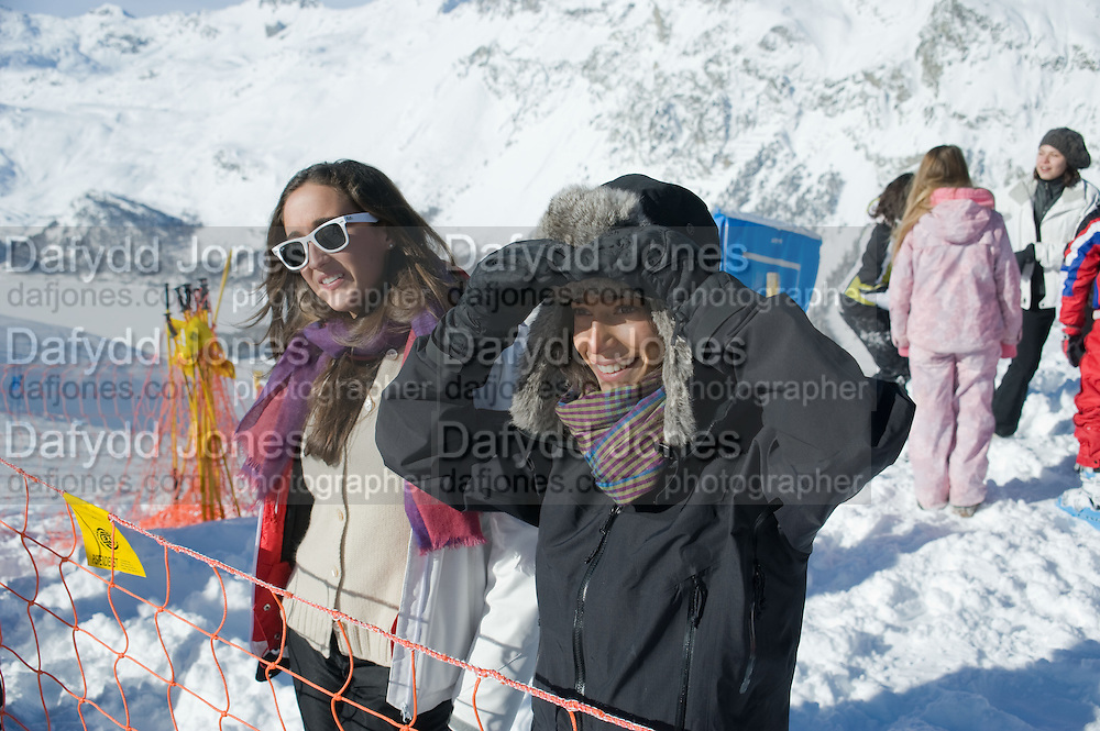 ANASTASIA GRAZIOLI; ALEXANDRA ORSI, Children and Adult ski race in aid of the Knights of Malta,  Furtschellas. St. Moritz, Switzerland. 23 January 2009 *** Local Caption *** -DO NOT ARCHIVE-© Copyright Photograph by Dafydd Jones. 248 Clapham Rd. London SW9 0PZ. Tel 0207 820 0771. www.dafjones.com.<br /> ANASTASIA GRAZIOLI; ALEXANDRA ORSI, Children and Adult ski race in aid of the Knights of Malta,  Furtschellas. St. Moritz, Switzerland. 23 January 2009