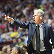 UNCASVILLE, CONNECTICUT- JULY 15:  Los Angeles Sparks head coach Brian Agler in action on the sideline during the Los Angeles Sparks Vs Connecticut Sun, WNBA regular season game at Mohegan Sun Arena on July 15, 2016 in Uncasville, Connecticut. (Photo by Tim Clayton/Corbis via Getty Images)