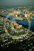 Aerial, Pittsburgh, PA, South Side, Three Rivers Aerial Photograph Pennsylvania