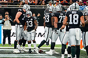 Touchdown, DeAndre Washington (RB) of the Oakland Raiders  runs in for a touchdown during the International Series match between Oakland Raiders and Chicago Bears at Tottenham Hotspur Stadium, London, United Kingdom on 6 October 2019.