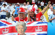 England fans during the Euro 2016 Group B match between England and Wales at Stade de Bollaert-Delelis, Lens Agglo, France on 16 June 2016. Photo by Phil Duncan.