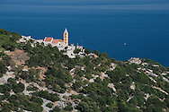 The Church of St John (Sv Ivan), on a hillside above Baska, on the island of Krk, Croatia