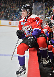 Filip Zadina of the Halifax Mooseheads represents Team Cherry in the 2018 Sherwin-Williams CHL / NHL Top Prospects Game held in Guelph,ON on Thursday January 25. Photo by Terry Wilson / CHL Images.