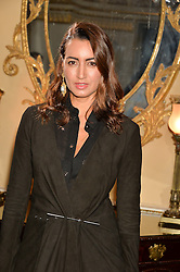 MARIA BUCCELLATI at an evenig of Jewellery & Photography to launch the Buccellati 'Opera Collection' held at Spencer House, London on 21st October 2015.