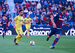 March 10, 2019 - Valencia, U.S. - VALENCIA, SPAIN - MARCH 10: Jaume Costa, defender of Villarreal CF in action with the ball during the La Liga match between Levante UD and Villarreal CF at Ciutat de Valencia stadium on March 03, 2019 in Valencia, Spain. (Photo by Carlos Sanchez Martinez/Icon Sportswire) (Credit Image: © Carlos Sanchez Martinez/Icon SMI via ZUMA Press)