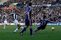 Photo: Steve Bond/Richard Lane Photography. West Bromwich Albion v Newcastle United. Barclays Premiership. 07/02/2009. James Morrison gets in a shot