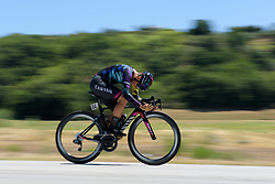 Barbara Guarischi speeds by on Stage 5 of the Giro Rosa - a 12.7 km individual time trial, starting and finishing in Sant'Elpido A Mare on July 4, 2017, in Fermo, Italy. (Photo by Sean Robinson/Velofocus.com)