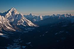 22.01.2011, Tofana, Cortina d Ampezzo, ITA, FIS World Cup Ski Alpin, Lady, Cortina, Abfahrt, im Bild Monte Antelao ( 3.264m), zweithöchste Berg der Dolomiten during FIS Ski Worldcup ladies Downhill at pista Tofana in Cortina d Ampezzo, Italy on 22/1/2011. EXPA Pictures © 2011, PhotoCredit: EXPA/ J. Groder