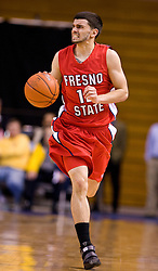 February 27, 2010; San Jose, CA, USA;  Fresno State Bulldogs guard Steven Shepp (12) during the second half against the San Jose State Spartans at The Event Center.  San Jose State defeated Fresno State 72-45.