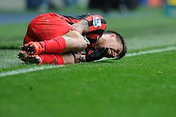 Queens Park Rangers' Eduardo Vargas goes down injured. - Photo mandatory by-line: Dougie Allward/JMP - Mobile: 07966 386802 - 04/04/2015 - SPORT - Football - West Bromwich - The Hawthorns - West Bromwich Albion v QPR - Barclays Premier League