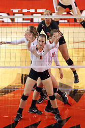06 November 2015:  Ali Line(1) during an NCAA women's volleyball match between the Bradley Braves and the Illinois State Redbirds at Redbird Arena in Normal IL (Photo by Alan Look)