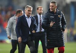 Montenegro Head Coach Ljubisa Tumbakovic (left)