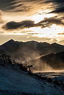 Absaroka Range, south of Livingston, Montana, sunrise.