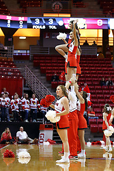 26 November 2016:  cheerleaders during an NCAA  mens basketball game between the Ferris State Bulldogs the Illinois State Redbirds in a non-conference game at Redbird Arena, Normal IL
