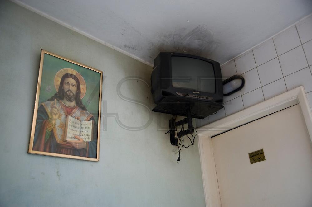 A breakdown in the health center in the  Coptic neigborhood Manshiet Nasser.