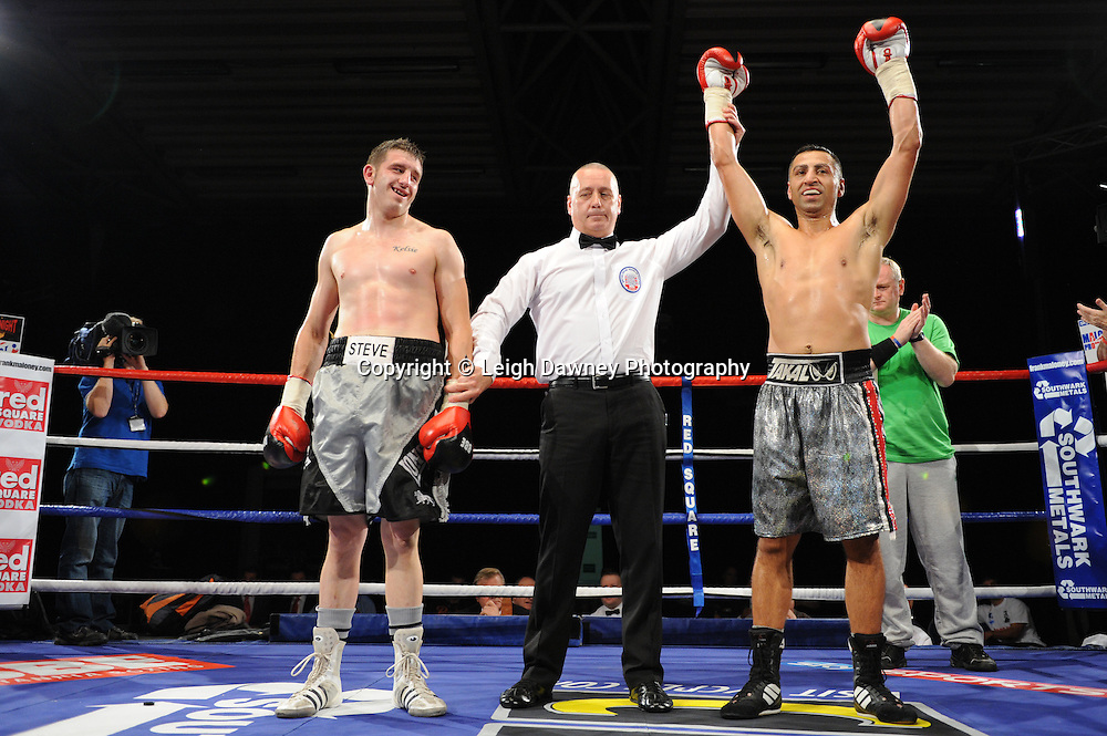Mehrdud Takaloo defeats Steve Spence at the Doncaster Dome, Doncaster, Uk, 3rd September 2011. Frank Maloney Promotions. Photo credit: Leigh Dawney 2011