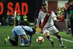 March 1, 2019 - Madrid, Madrid, Spain - Alvaro of Rayo Vallecano and Ramalho of Girona in action during La Liga Spanish championship, , football match between Rayo Vallecano and Girona , March 01th, in Estadio de Vallecas in Madrid, Spain. (Credit Image: © AFP7 via ZUMA Wire)