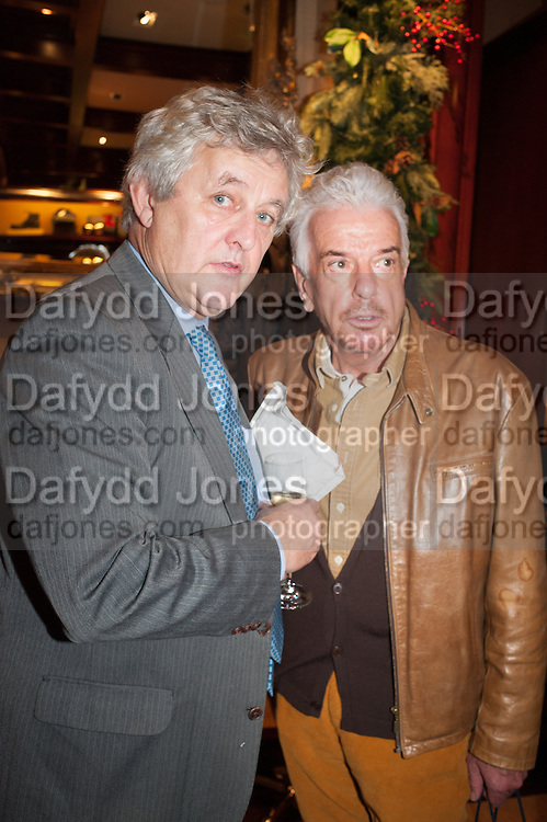 JAMES HUGHES-ONSLOW; NICKY HASLAM, Book launch for ' Daughter of Empire - Life as a Mountbatten' by Lady Pamela Hicks. Ralph Lauren, 1 New Bond St. London. 12 November 2012.