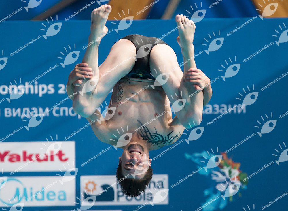 ROSSET Matthieu FRA<br /> Diving - Men's 1m springboard preliminaries<br /> Day 01 24/07/2015<br /> XVI FINA World Championships Aquatics Swimming<br /> Kazan Tatarstan RUS July 24 - Aug. 9 2015 <br /> Photo Giorgio Perottino/Deepbluemedia/Insidefoto
