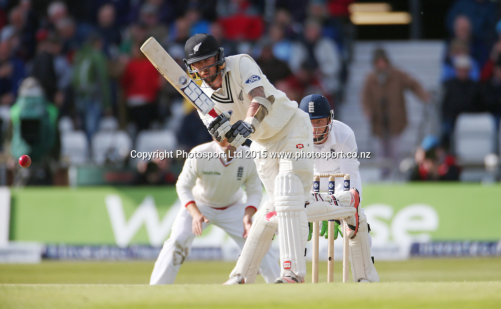 Luke Ronchi bats during the second Investec Test Match between England and New Zealand at Headingley, Leeds. Photo: Graham Morris/www.photosport.co.nz