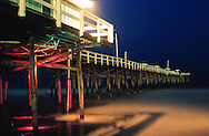 The old Jacksonville Beach Pier as seen not long before it was torn down.  This was taken after Hurricane Floyd took off nearly 1/3 of the pier in 1999.