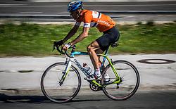 Rider during 156km race at 36th Marathon Franja BTC City 2017, on June 11, 2016 in Dolgi most, Ljubljana, Slovenia. Photo by Vid Ponikvar / Sportida