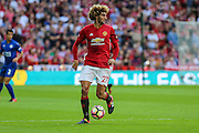 Marouane Fellaini Midfielder of Manchester United during the FA Community Shield match between Leicester City and Manchester United at Wembley Stadium, London, England on 7 August 2016. Photo by Shane Healey.