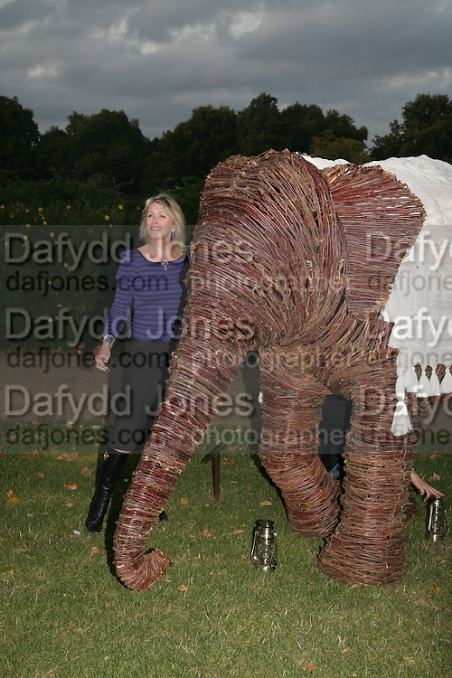Louise Fennell, QUINTESSENTIALLY AND ELEPHANT FAMILY TRUNK SHOW PARTY. SERPENTINE PAVILION, HYDE PARK. 16 SEPTEMBER 2007. -DO NOT ARCHIVE-© Copyright Photograph by Dafydd Jones. 248 Clapham Rd. London SW9 0PZ. Tel 0207 820 0771. www.dafjones.com.