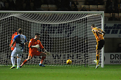 Barry Corr of Cambridge United scores a goal - Mandatory byline: Dougie Allward/JMP - 07966 386802 - 30/10/2015 - FOOTBALL - The Abbey Stadium - Cambridge, England - Cambridge United v Bristol Rovers - Sky Bet League Two