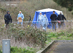 © Licensed to London News Pictures. 03/03/2020.  London UK: Police and forensic officers were called at around 8.30 this morning by ambulance staff after a body was found close to Gallions Reach DLR station in Beckton, east London. Detectives are treating the death at present as unexplained , Photo credit: Steve Poston/LNP