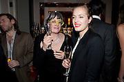 PHILLIPA PERRY; POLLY MORGAN, Ella Krasner and Pablo Ganguli host a Liberatum dinner in honour of Sir V.S.Naipaul. The Landau at the Langham. London. 23 November 2010. -DO NOT ARCHIVE-© Copyright Photograph by Dafydd Jones. 248 Clapham Rd. London SW9 0PZ. Tel 0207 820 0771. www.dafjones.com.