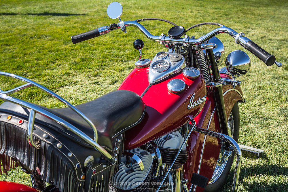 1947 Indian Chief closeup, at the 2012 Santa Fe Concorso.